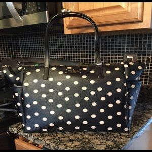 Kate Spade Black & Pink Diaper /Overnight Bag NWT